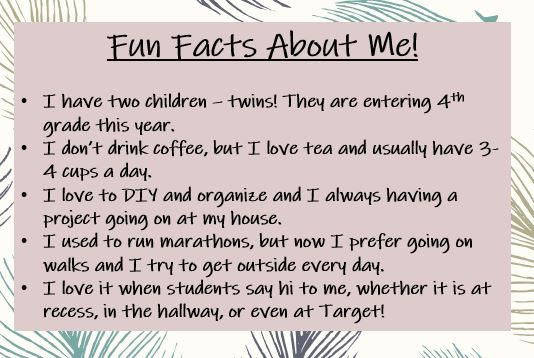 Fun Facts about Mrs. Bauer